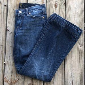 7 For All Mankind Dojo Flare Jeans 28 Waist